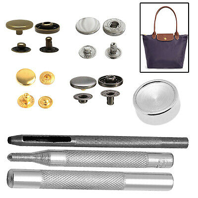 12.5mm Bronze S Spring Press Studs Fastener With Fixing Tool For Leather Crafts