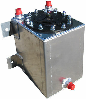 NEW RCI 19 GALLON STREET ROD ALUMINUM FUEL CELL W// SENDING UNIT,HOT ROD GAS TANK