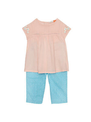 John Lewis Baby Floral Top / Pink 0-3 Months Brand New With Tags Free P&P