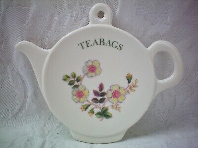 M&S Marks & Spencer Autumn Leaves Tea Bags Teabags Stand Tray Melamine