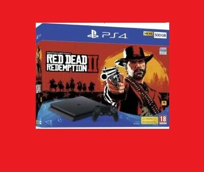 Sony PS4 CONSOLE 500GB CHASSIS F SLIM BLACK +GIOCO RED DEAD REDEMPTION 2 OFFERTA