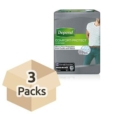Depend Comfort Protect for Men - L/XL - Case of 3 Packs of 9 Incontinence Pants