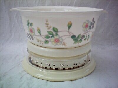 M&S Marks & Spencer Autumn Leaves Measuring Weighing Scales 2.2kg 5lbs Bowl