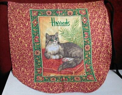 A Beautiful Apron Featuring A Cat / From Harrods Of Knightsbridge London /