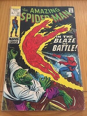 Amazing Spider-Man #77 Human Torch And Lizard App. Silver Age Pence Copy