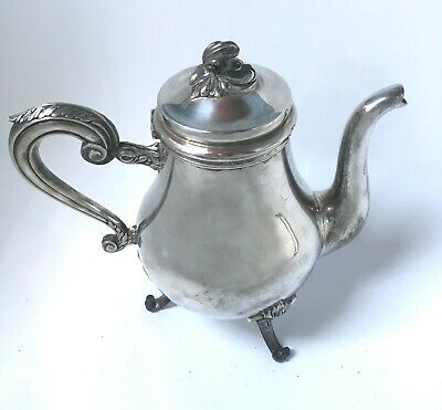 Cafetiere Christofle Gallia Metal Argente Style Louis Xv