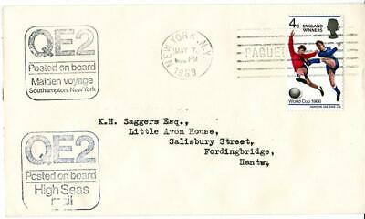 1969 Queen Elizabeth II Maiden Voyage Cover - New York PAQUEBOT Cancel