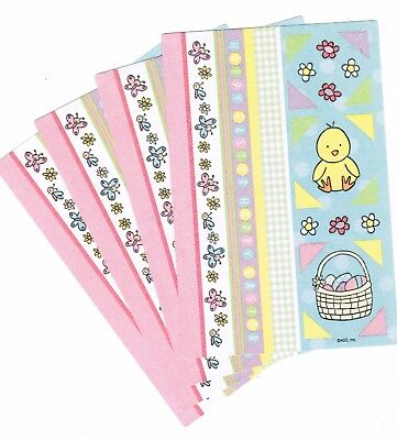 4 Sheets EASTER Scrapbook Stickers! Chick Easter Basket Borders Photo Corners