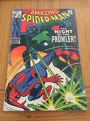 Amazing Spider-Man # 78. Prowler First Appearance. Silver Age Cents Copy
