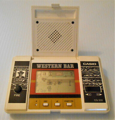 WESTERN BAR Rare Casio Vintage Electronic LCD LSI Handheld Game 1984 Works!