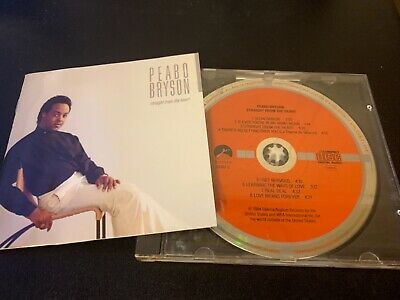 Peabo Bryson - Straight From The Heart West Germany Target Elektra Red Label Cd