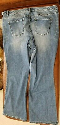 558486cbdb1 LANE BRYANT 24 Destructed Distressed Low Rise Boot Cut Jeans 24W ...