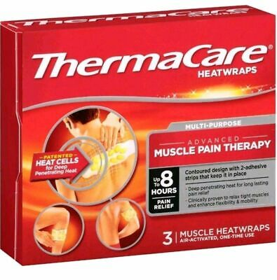 NEW!! THERMACARE MSCLE/JNT HEAT WRAP: LOT OF 4 (3 packs each) EXP: 11/20 AND 03/