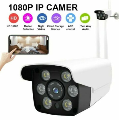 1080P Outdoor Wifi P2P ONVIF IR Night Vision Wireless IP Camera Audio Home CCTV