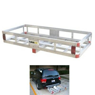 """Aluminum Cargo Carrier Luggage Bumper Rack 2"""" Receiver Hitch Mount Tray RV Truck"""