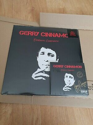 Signed Gerry Cinnamon Erratic Cinematic CD and Limited edition LP