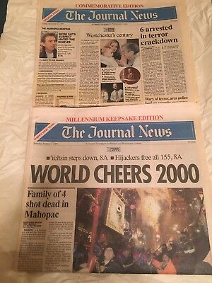 Millennium AND COMMEMORATIVE EDITION NEWSPAPERS 12/31/1999 & 1/1/2000 FULL PAPER