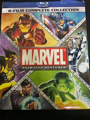Marvel Animated Features: 8-Film Complete Collection [Blu-ray] New DVD! Ships Fa