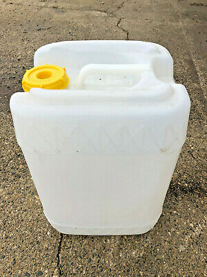 Heavy Duty 5 Gallon plastic jug drum square container with handle