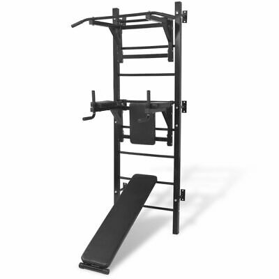 vidaXL Fitness Kraftturm Multifunktional Wandmontage Kraftstation Power Tower#