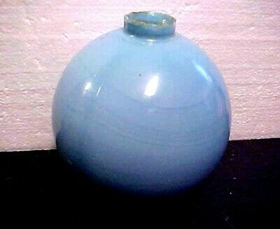 Antique sky Blue swirl Glass Lightning Rod Ball from old North Iowa barn