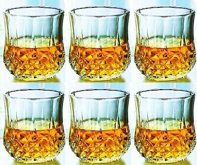 Real Crystal Glass Wine Water Whiskey Champagne Drink Glasses Diamond Tumbler UK