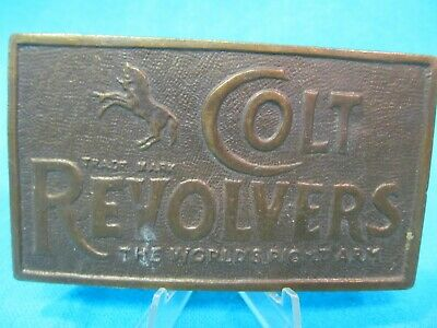 Colt Revolvers Brass Belt Buckle The World's Right Arm