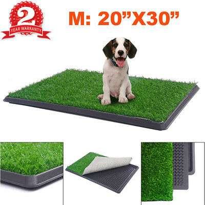 "Pet Potty Toilet Trainer Grass Mat Dog Puppy Pee Patch Pad Turf W/ Tray 20""X30"""