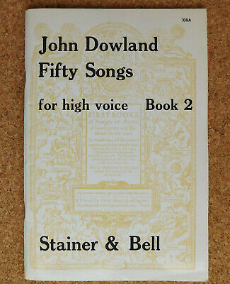 John Dowland 50 Fifty Songs for High Voice Book 2 16th century music classical