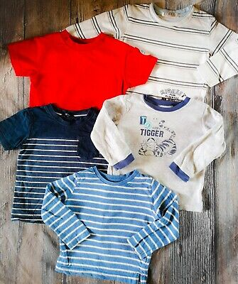 Baby Boys Tops Bundle 12-18 Months Long Sleeve Tops T-Shirts Mothercare George
