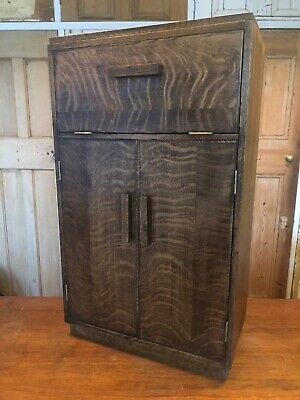 Vintage Oak Art Deco Small Cabinet Drinks Cabinet