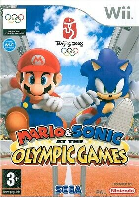Wii - Mario and Sonic At The Olympic Games - Boxed no manual