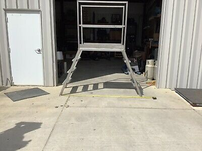 """Stainless Steel Crossover Stairs / Ladder Platform  45"""" Tall 78"""" Wide."""