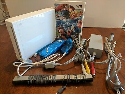 Nintendo Wii Console System White -Complete - Gamecube Compatible w/1 Game