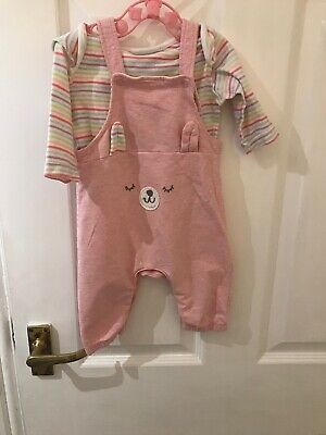 Baby girl jumpsuit With Matching Vest 0-3 Months