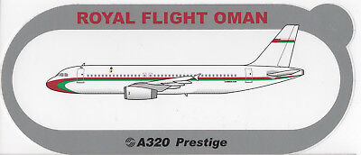 ~ ROYAL FLIGHT OF OMAN ~ Airbus A320 Prestige Sticker / Decal ~ HIGHLY RARE ~