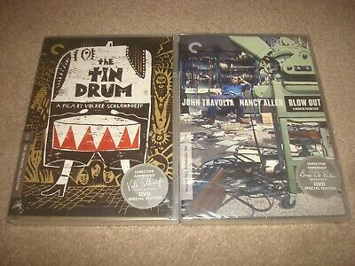 SEALED Blow Out + The Tin Drum DVD LOT Criterion Collection Classic Movie NEW