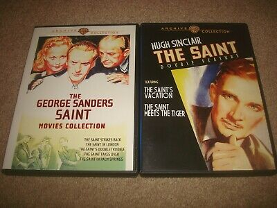 The Saint Double Feature George Sanders Movies Collection DVD LOT Warner Archive