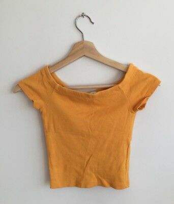 17f1052142 ZARA~ WOMENS YELLOW Brown Tie Crop Top Size Small - $12.99 | PicClick