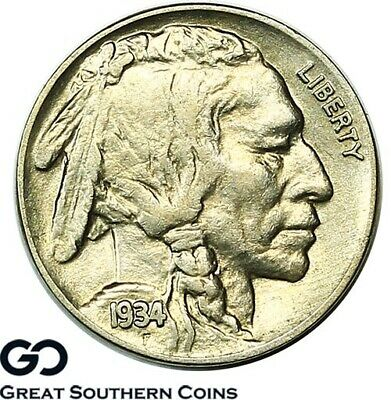 1934 Buffalo Nickel ** Nice White Buffalo
