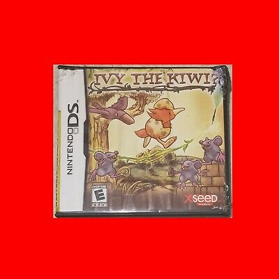 ☆Gd Nintendo Ds Videogame-Ivy The Kiwi-Video Game Single+Multiplayer^box+Manual☆