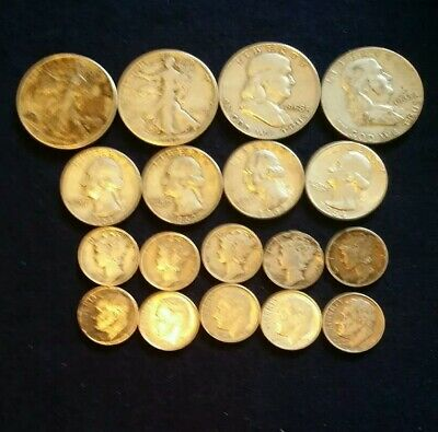 US silver coin lot 90% Silver. 4.00 face value,all different. 3 day auction.