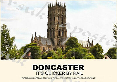 Vintage Style Railway Poster Doncaster A4/A3/A2 Print