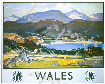 TX440 Vintage British Wales GWR Railway Travel Retro Poster A2//A3//A4
