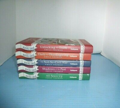Lot Of 5 Christian Guideposts Secrets Of Blue Hill Library*all Sewn Up