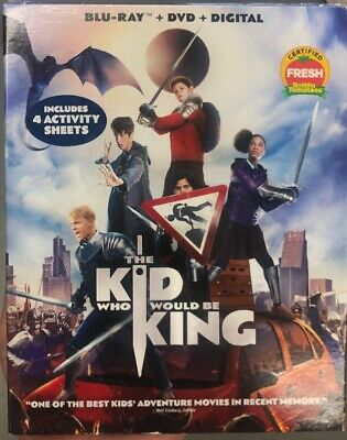 THE KID WHO WOULD BE KING(BLU-RAY+DVD+DIGITAL)W/SLIPCOVER *free Shipping *