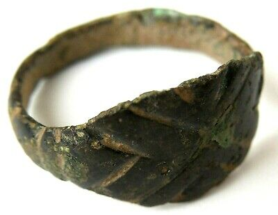 Viking Original Bronze Finger Ring Circa 700 Ad Rare!