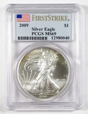 2009 AMERICAN EAGLE Silver Bullion Coin ~ PCGS MS69 FIRST STRIKE
