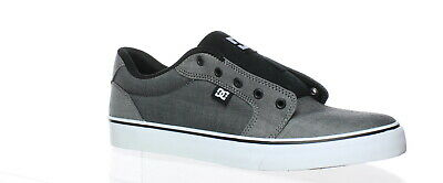DC Shoes Mens Anvil Tx Gray Skateboarding Shoes Size 10 (170393)