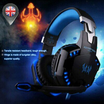 Gaming Headset MIC LED Headphones Surround for PC Mac PS4 Xbox One Laptop 3.5mm*